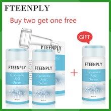 Buy 2 Get 1 Gift FTEENPLY Hyaluronic Acid Serum Whitening Moisturizing Essence Anti-Aging Wrinkle Shrink Pore Facial Skin Care