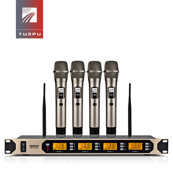 High Quality! YUEPU RU U400 4 Channels Karaoke Microphone Wireless Professional System for Conference Stage Simultaneously Use