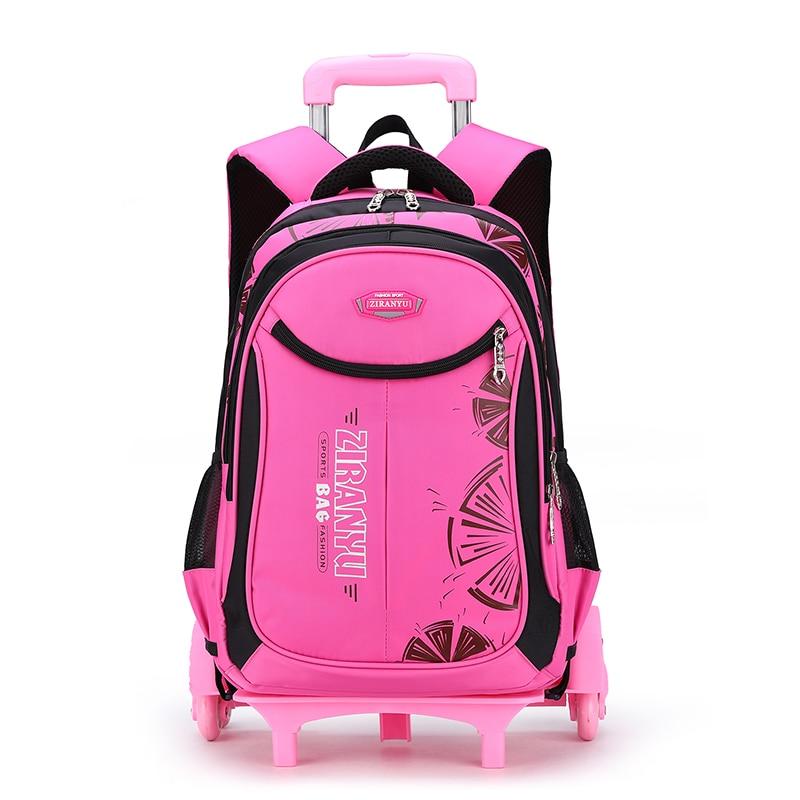 Children Trolley School Bags For Teenage Girl Boy School Backpack Kids Travel Trolley Backpack Wheeled Bag Waterproof Schoolbag School Bags  - AliExpress