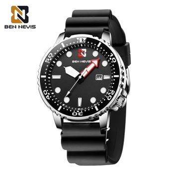 Ben Nevis New Fashion Men Sport Watch Men Quartz Clock Man Military Waterproof Black Watch Top Brand Luxury Relogio Masculino