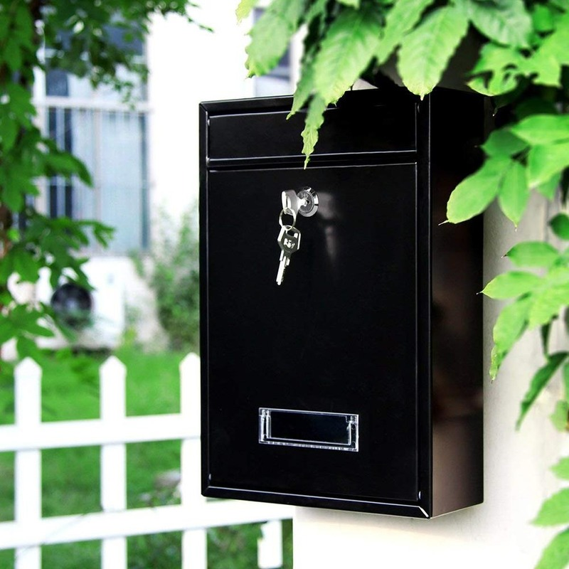 Outdoor Lockable Wall Mounted Hanging Iron Post Letter Box Mailbox with Key Password Mailbox Outdoor Letterbox Outdoor Wall WF