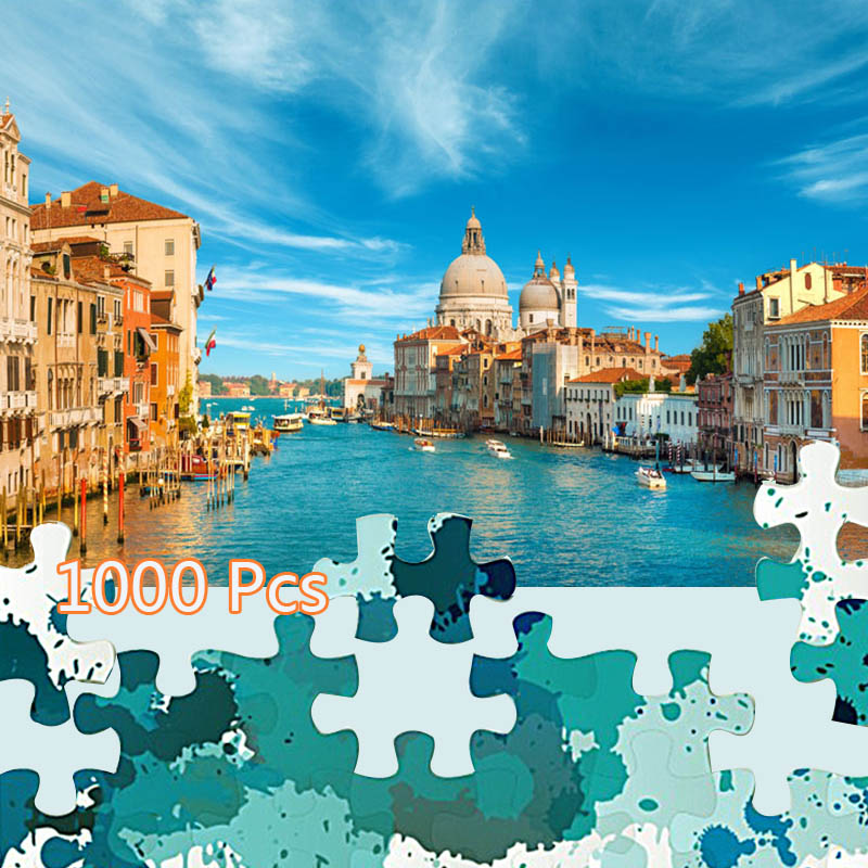 Gigsaw Puzzles 1000 Pieces Assembling Picture Building Puzzles Venice Budapest Great Wall Toys For Adults Children Kids Games