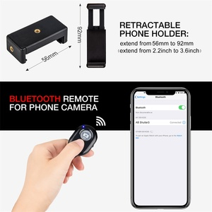 Image 5 - 電話三脚 55 インチポータブル旅行三脚携帯電話iphoneのhuawei社ビデオカメラbluetoothリモート携帯電話ホルダー