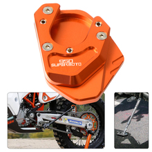 Motorcycle CNC Kickstand Foot Side Stand Extension Pad Support Plate Enlarge Stand For KTM 950 Supermoto 2006 2007 With LOGO motorcycle cnc kickstand foot side stand extension pad support plate enlarge stand for ktm 950 supermoto 2006 2007 with logo