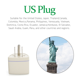 Image 3 - Adaptador de energia universal para viagem, adaptador com 3 pinos conversor au uk eu para estados unidos estados unidos,