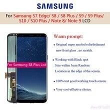 Für Samsung Galaxy S7 Rand S8 S8 Plus S9 S9 Plus Hinweis 8 Lcd Display Touchscreen Digitizer Mit Spot g935f G950f Super AMOLED