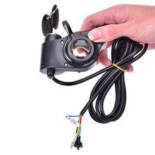 173g Bicicleta Elétrica Metade Punho Do Acelerador Punho de Pulso Display LED Indicador/Chave de Bloqueio Bater Metade Do Acelerador Torção