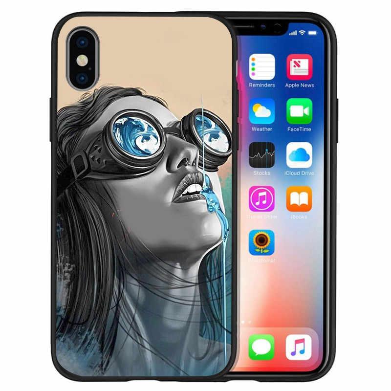 Người phụ nữ Gợi Cảm Hình Dán Tattoo Cho Iphone X XR XS 11 Pro Max 5 5S SE 6 6S 7 8 plus Oneplus 5T Pro 6T Ốp Lưng điện thoại Nắp Coque Etui funda capa