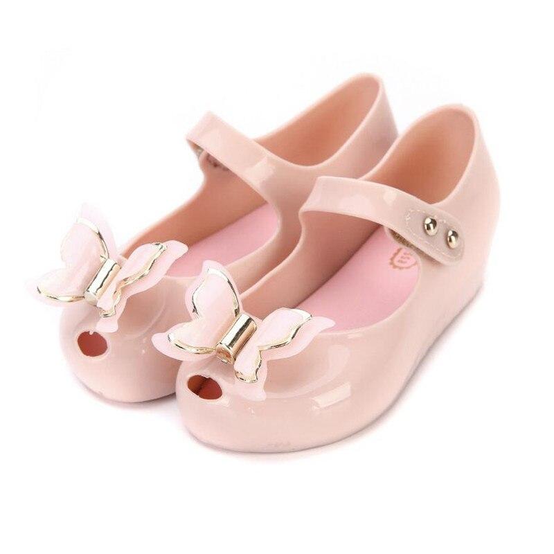 Mini Melissa Butterfly Kids Shoes Children Jelly Sandals Soft Bottom Princess Girl 2020 New Summer Girls sandals
