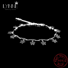 Newest Fashion Butterflies Pendant Anklets Bracelet 925 Sterling Silver Charm Butterfly Anklet Foot Chain For Women Jewelry Gift