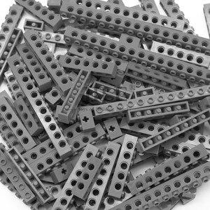 Image 5 - Moc Technic di Mattoni con Foro Lungo Travi FAI DA TE di Spessore Building Block Misto Bulk Compatibile Monta Il Blocchetto Delle Particelle di Scienza Meccanico