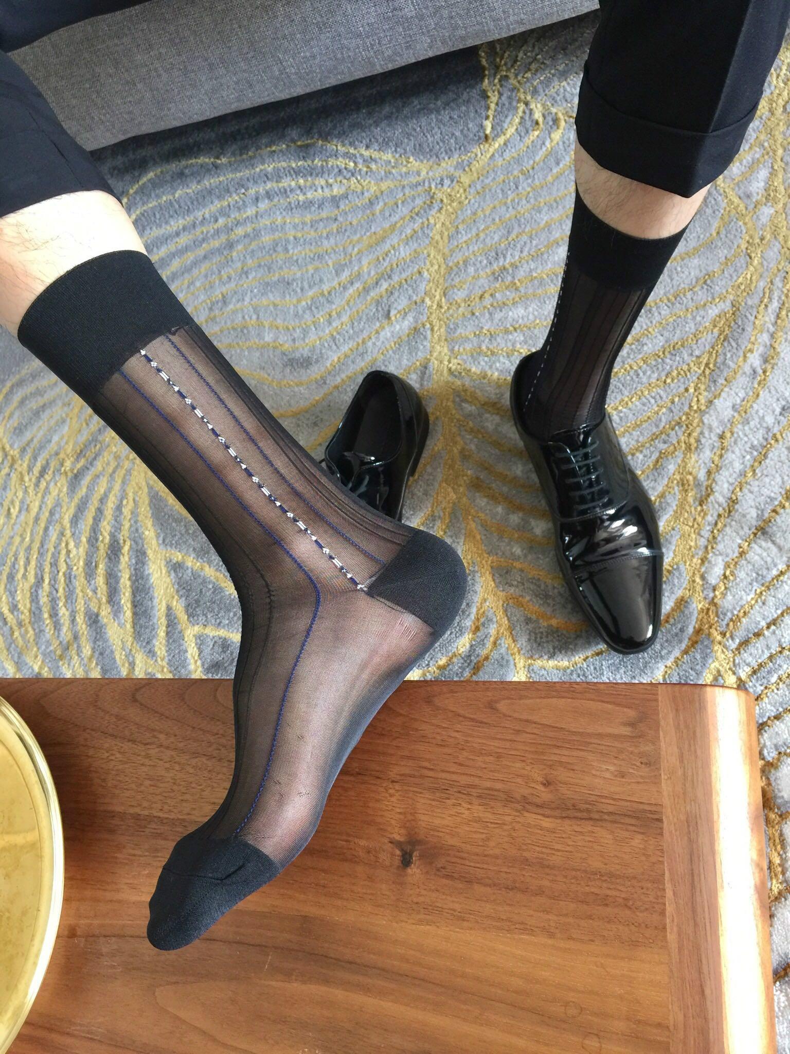 Tube Socks Dress Socks Gifts For Men Male Sheer Socks Exotic Formal Dress Socks Suit Men Wear Sheer Socks Business Dress Stocks