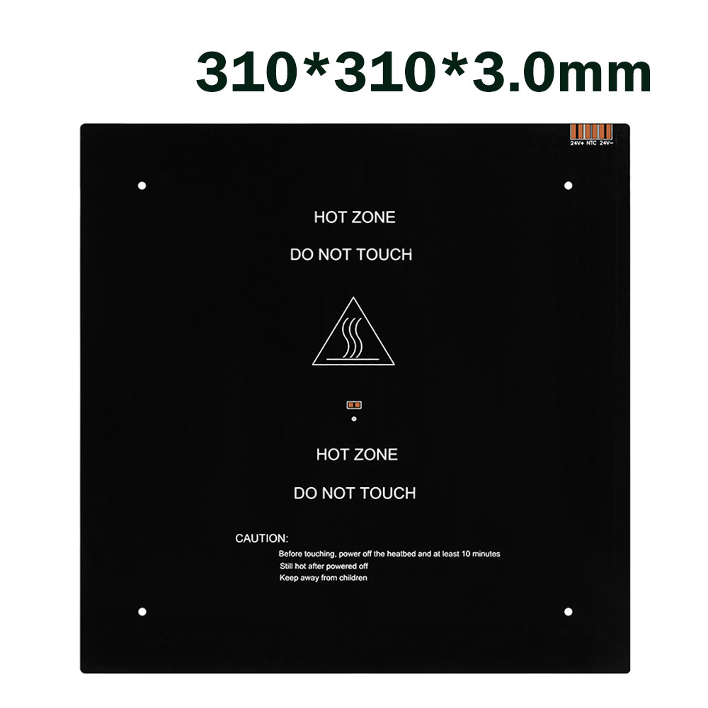 3D Printer Parts  Aluminium heatbed MK3 310*310*3mm 12V black MK3 hotbed latest  for Hot-bed Support 12V/24 for Creality 3D CR10