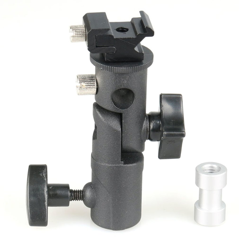 E Type Metal Flash Bracket Universal Hot Shoe Speedlite Umbrella Holder With 1/4