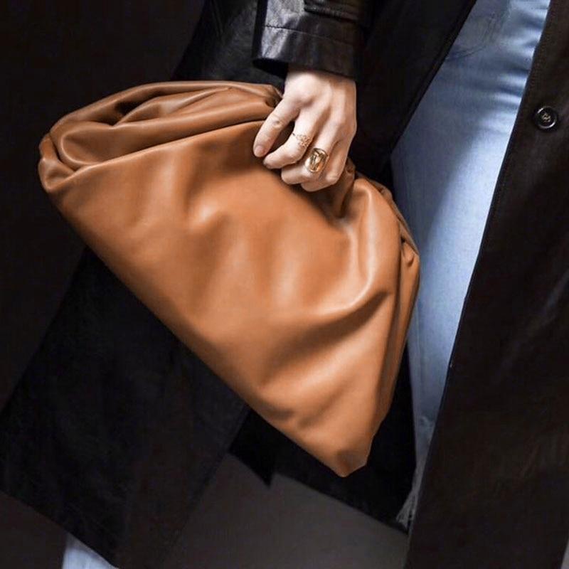 Women Simple Dumplings Messenger Bag Designer Retro New Fashion Cloud Female Crossbody Shoulder Bag Tide Handbag Clutch Bag(China)