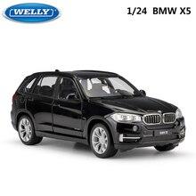 WELLY 1:24 مقياس Diecast سيارة لعبة BMW X5 نموذج محاكاة عالية سيارات رياضية كلاسيكية معدنية لعبة معدنيّة سيارة للأطفال مجموعة هدايا