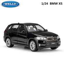 WELLY 1:24 Scale Diecast רכב צעצוע BMW X5 גבוהה סימולציה דגם קלאסי SUV מתכת סגסוגת צעצוע מכונית לילדים מתנות אוסף