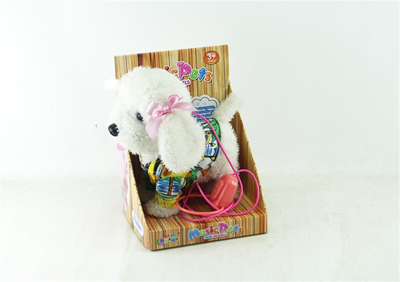 Children Plush Toys Electric Dog Singing Poodle Children Walk Music White Guyed Poodle