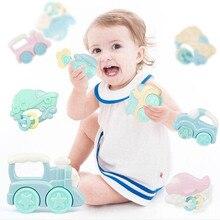 Милый детский Прорезыватель высокого качества, погремушка, может укусывать, игрушка для прорезывающихся зубов с героями мультфильмов, игрушки для ухода за ребенком, креативные забавные Прорезыватели для зубов