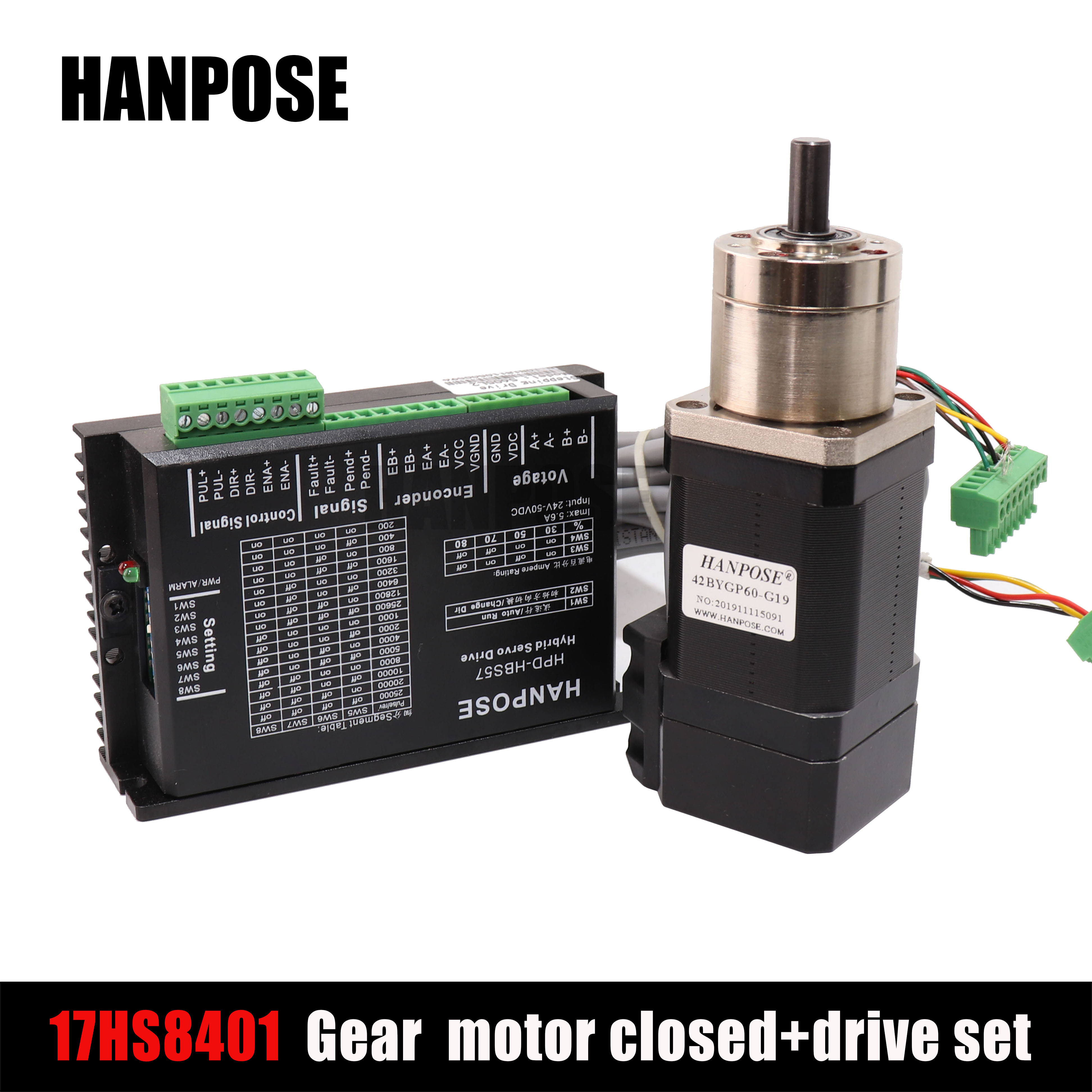 <font><b>NEMA17</b></font> PG-stepper motor 17hs4401 deceleration closed-loop + drive 42 closed-loop motor body length 42x40mm1.5A image