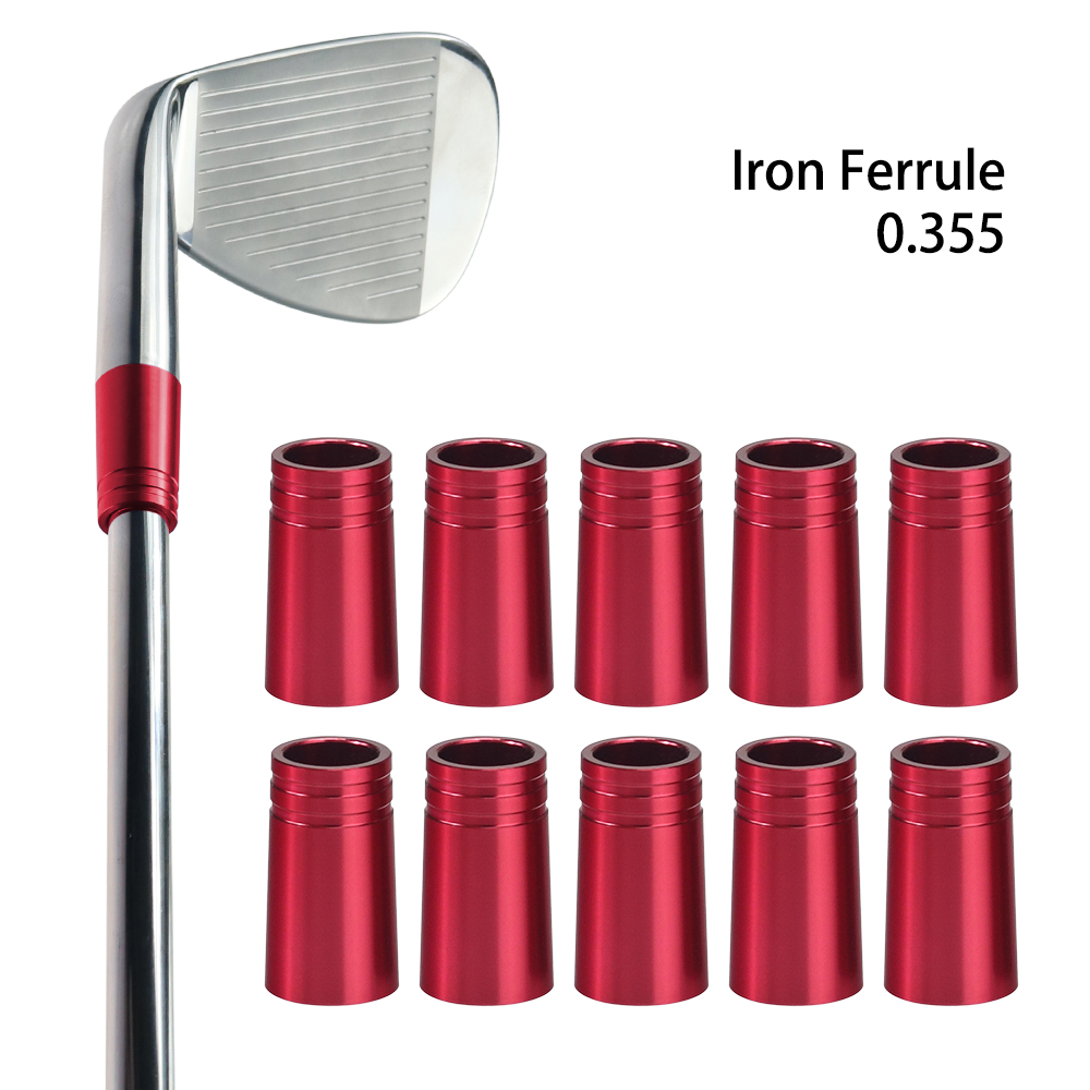 10PCS .355 Golf Iron Ferrules Caps 25mm Tall Golf Adapter Ferrule Multi Colors For Iron Shaft Golf Wedge