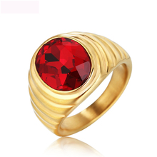 New Color Crystal Rings Titanium Steel Jewel  Fashion Jewelry For Men And Women Anniversary Party Gifts