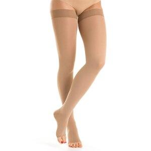 Image 2 - Compression Stockings Men Women,Open Toe,20 30 mmHg Graduated Support Socks DVT,Maternity,Pregnancy,Varicose Veins,Shin Splints