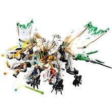 1100 adet Ninja Ultra ejderha uyumlu lepining Ninjagoes ejderha yapı taşları tuğla oyuncaklar çocuklar için doğum günü hediyesi