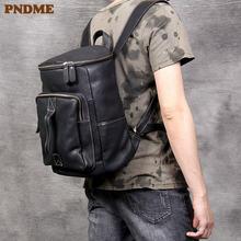 Мужской повседневный рюкзак ведро из натуральной кожи дизайнерский