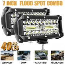 2X7นิ้ว800W ไฟ LED ทำงาน Light Bar ขับรถ Combo หมอกโคมไฟสำหรับ Offroad 4X4 SUV รถบรรทุก ATV เรือ12V 24V ไฟหน้า