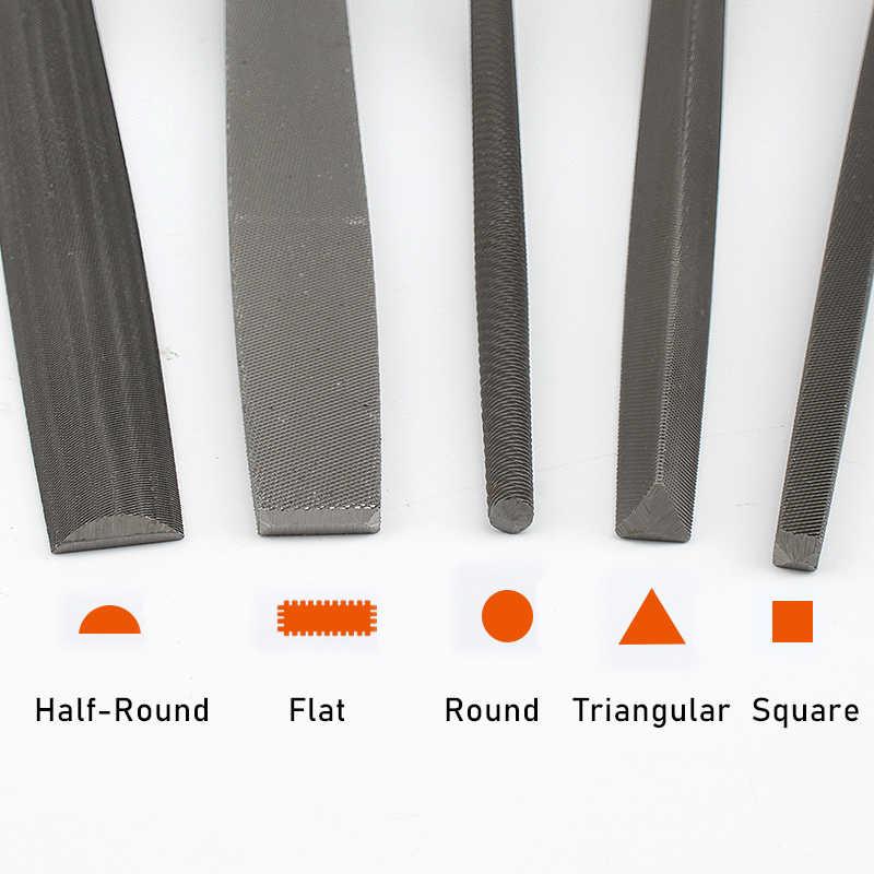 """5 قطعة ملفات معدنية متوسطة الأسنان مجموعة لأعمال النجارة الصلب Rasp ملف مثلث مسطح مربع نصف دائري 6 """"8"""""""
