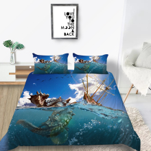 Sea Dragon Bedding Set Shipwreck 3D Fashionable Co