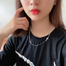 High quality Korean sterling silver 925 women's retro necklace jewelry birthday party anniversary gift