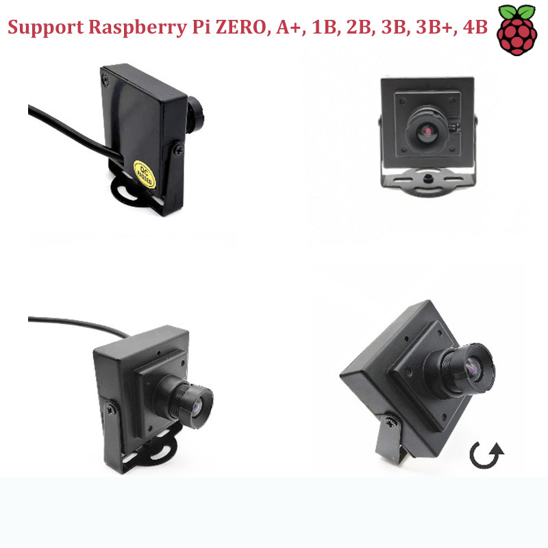 Raspberry Pi 4B/3B/3B+/ZERO ZC301P Raspberry Camera  Camera Full Metal Casing USB Camera