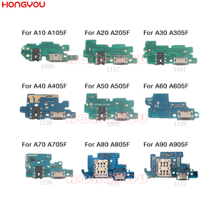 10PCS/Lot For Samsung A10 A20 A205F A30 A40 A50 A505F A60 A70 A80 A90 USB Charge Dock Board Charging Socket Connector Flex Cable