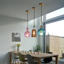 Nordic Led Pendant Lamp Stained Glass Candy pendant lights Dining Room Cafe Bar Kitchen Fixtures indoor Decor Lighting Luminaire mediterranean tiffany pendant lights stained glass lamp light for kitchen home decor lighting fixtures vintage led luminaire