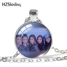 2020 New Kpop Itzy Pendant Necklace Yuna Lia Yeji Ryujin Glass Dome Necklace Jewelry Round Photo Pendants HZ1