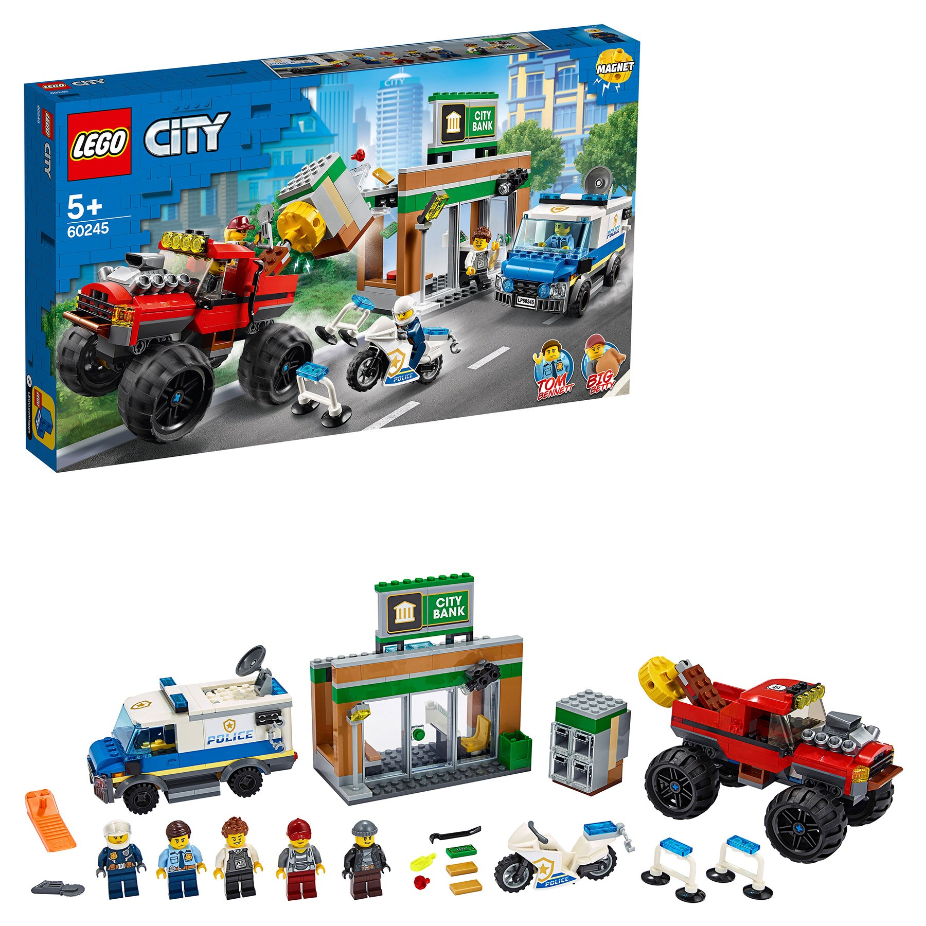 Designer Lego City Police 60245 Robbery Of A Police Monster Truck