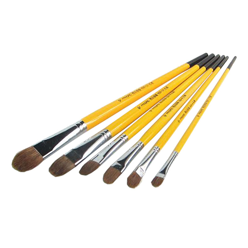 6pcs/Set,Van Gogh Weasel Hair Brush Gouache Watercolor Painting Pen Acrylics Oil Brush Painting Brush In Paint Brushes