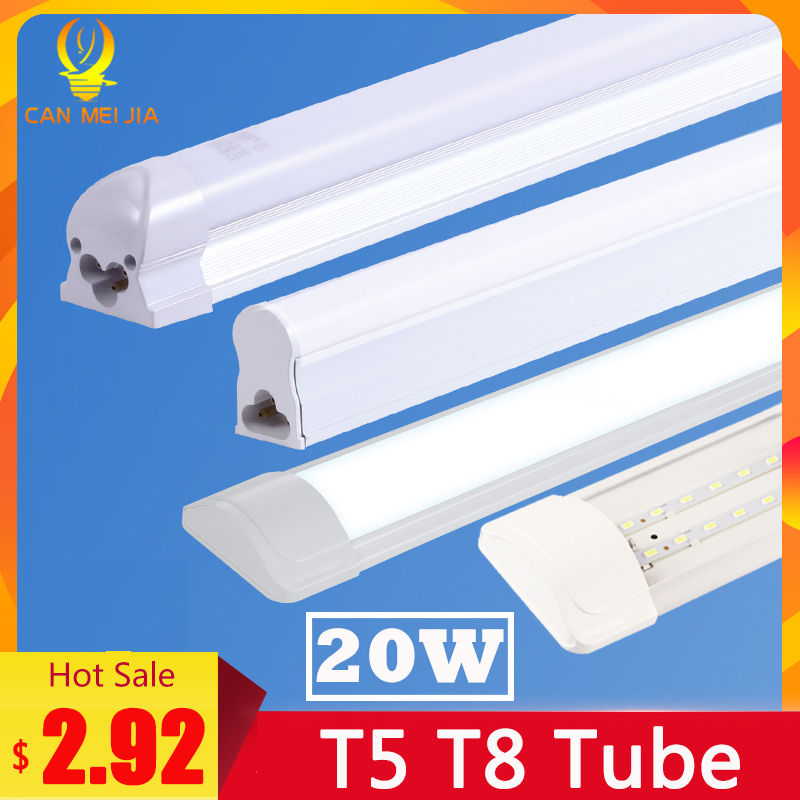 Super Bright T5 T8 Led Tube Light Lamp 220V 600mm 60cm 120cm Lampara Tube Led Bulb 2FT 4FT High Power 20W Tri Proof Home Light