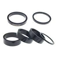 Conjunto de 6 bicicleta fone de ouvido espaçador haste espaçadores garfo arruela 2mm/3mm/5mm/10mm  preto|Fone de ouvido p/ bicicleta|   -