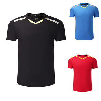 Nowa koszulka do gry w tenisa męski żeński szybkoschnąca koszulka do badmintona koszulki do tenisa stołowego koszulka sportowa koszulka do gry w tenisa s odzież 3886AB tanie i dobre opinie NoEnName_Null Poliester Krótki Koszule Suknem Y-3886AB Pasuje prawda na wymiar weź swój normalny rozmiar Anty-pilling