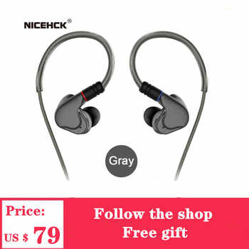 NICEHCK M6 4BA+2DD HIFI Metal Earphone Hybrid 6 Unit In Ear Earphone Headset Monitor Headphone With MMCX Detachable Cable Earbud