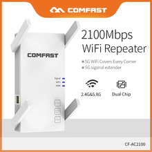 Comfast 2100Mbps Dual Band Wireless Wifi Repeater/Extender 5G Home Wifi Gigabit RJ45 Port Router