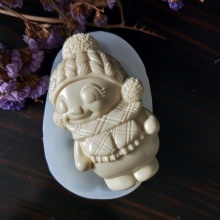 TS0098 PRZY New Year Christmas Snowman Decoration Mould Handmade Soap Mousse Chocolate Candy Mold Cake