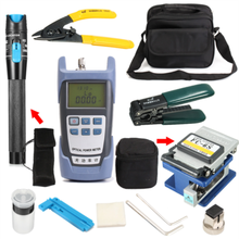 FTTH Fiber Optic Tool Kit with Fiber Fibra Optica Power Meter and 10mW Visual Fault Locator and Cable Cutter Stripper FC-6S Fibe
