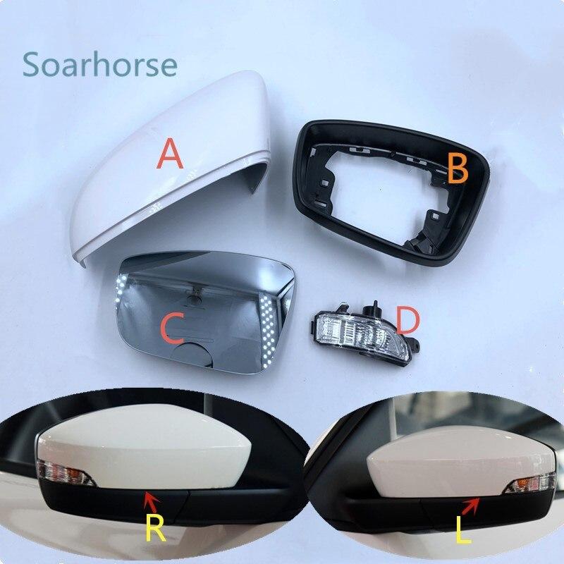 Fabia couvercle de rétroviseur | Pour Skoda Fabia rétroviseur rapide, coque de rétroviseur latéral, indicateur de lumière, miroir lentille de verre