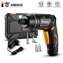 DEKO DCS3.6DU2 Беспроводная электрическая отвертка Бытовая аккумуляторная батарея отвертка с поворотной ручкой светодиодный фонарь