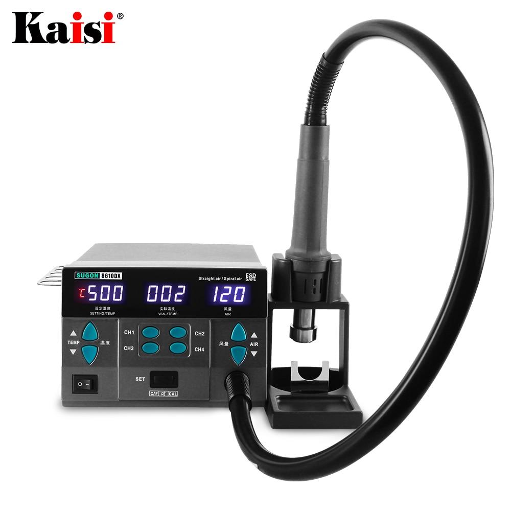 Tools : SUGON 8610DX 1000W Hot Air Rework Station LED Display Lead-Free Heat Gun Microcomputer Temperature Adjustable 5nozzle