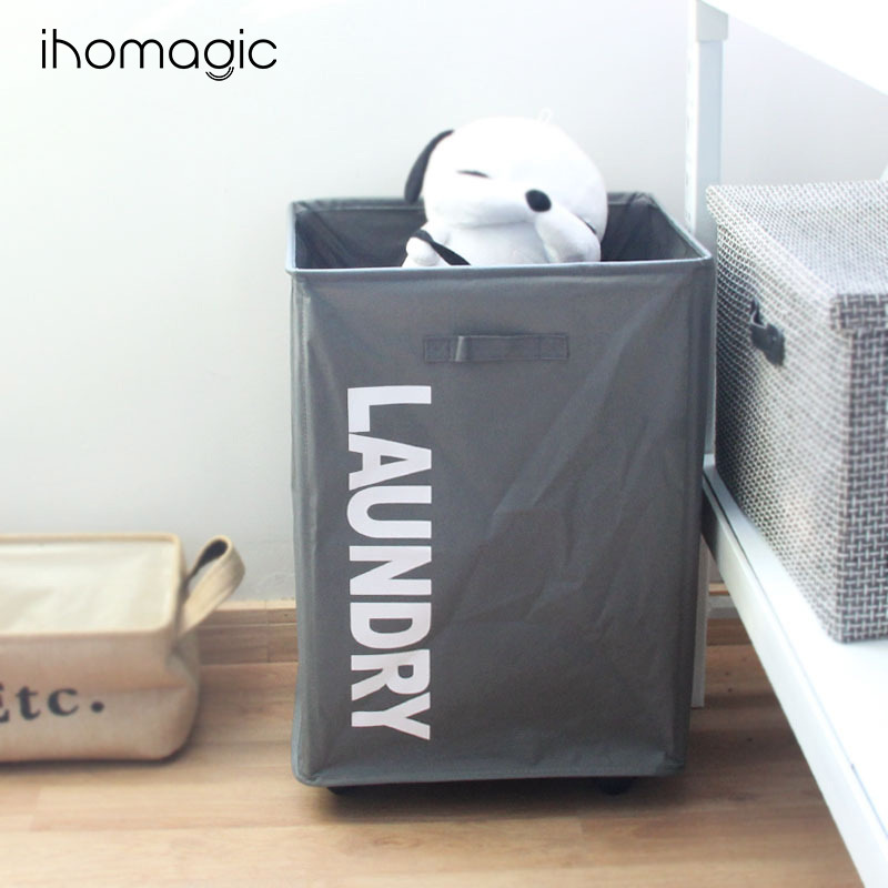 Oxford Cloth PE Paintcoat Mesh Cinch Top Bag With Roller Framework Storage Box Foldable Clothes Organizing Zang Yi Dai